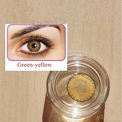 Contact Lenses GREEN-YELLOW Colorful Contacts Colored Cosmetic VERDE AMARILLENTO