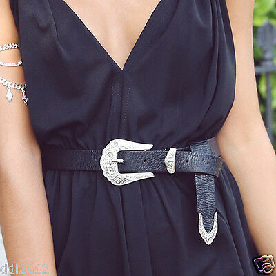 Fashion Women Strap Accessories Leather Clasp Belt Buckle Adjustable Waistband