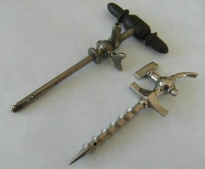 TWO Victorian Champagne Antique Corkscrews