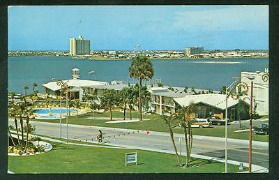 Schraff's Restaurant and Motor Inn Clearwater Florida Water View Postcard