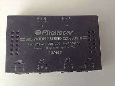 Phonocar Sub Woofer Stereo Crossover S2/445