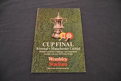 1979 FA Cup Final Programme Arsenal v Manchester Untied Exc. Condition