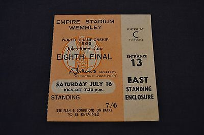 1966 World Cup Group Stage Ticket England v Mexico Exc. Condition