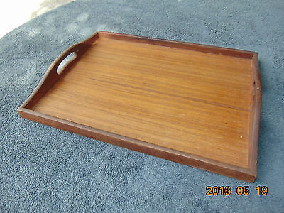 VINTAGE GOODWOOD GENUINE TEAK WOOD BED SERVING TRAY Simple Clean Elegant