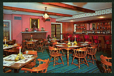 Cocktail Lounge Bennett's Restaurant Interior Postcard Berwick Pennsylvania