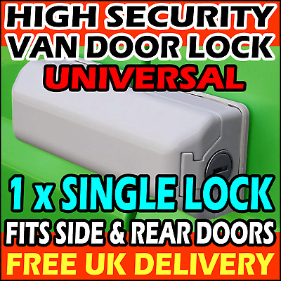 UNIVERSAL Rear Doors or Side Sliding High Security Hasp Van Lock Padlock SINGLE