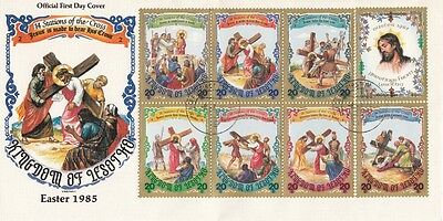 1985 Pair Lesotho 14 Stations of the Cross covers.