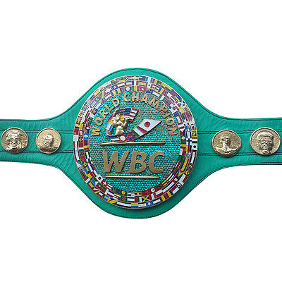 WBC EMERALD Championship Boxing Belt Genuine Leather 3D Replica Adult