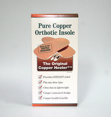 New - Pure Copper Orthotic Insole - The Original Copper Heeler