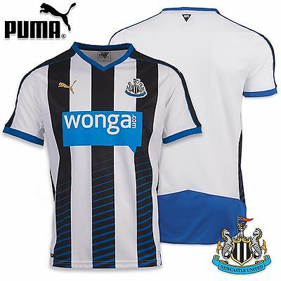 Puma Newcastle United Football Shirt Home Top 2015/16 Mens Replica  Jersey EPL