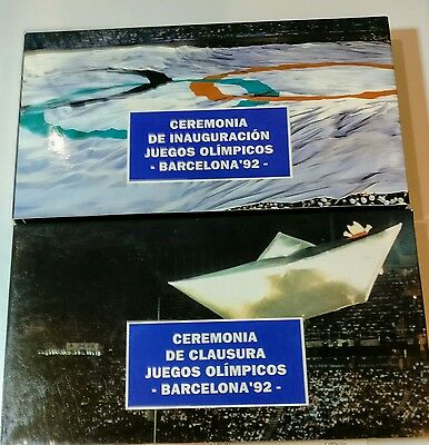 Barcelona 1992 Olympic opening minutes,  closing ceremonies Spanish VHS