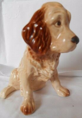 Genuine Sylvac Fawn And Brown Sitting Up Spaniel Dog No 18