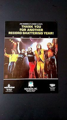 Journey Thank You For Another Great  Year Rare Original Print Promo Poster Ad