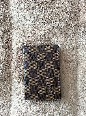 100% AUTHENTIC; Louis Vuitton Damier; Travel Credit Card Wallet; Pre-Owned