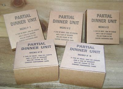 WW2 US Army partial dinner units, repro