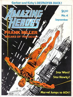 Amazing Heroes Magazine #4, NM 1981 Miller Daredevil