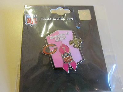 Chicago Bears VS New Orleans Saints 10/6/2013 Soldier Field Game Day Pin BCA