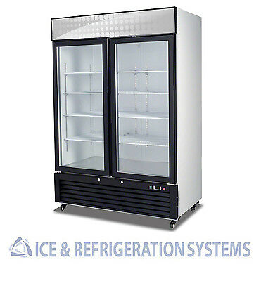 49Cf Commercial Hinged 2 Glass Door Merchandiser Freezer Reach In C-49Fm