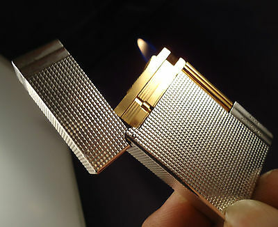 S.T. Dupont Gatsby Lighter - Silver & Gold Plated - Briquet - Feuerzeug