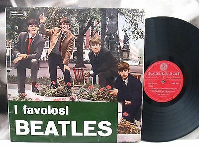 THE BEATLES - I FAVOLOSI BEATLES LP 1964 1st ITA PMCQ 31503 PARLOPHON RED LABEL