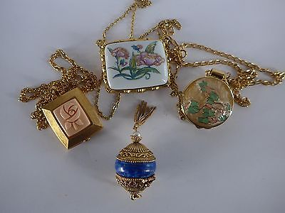 Solid Perfume Compacts Pill Trinket Box Lot #14