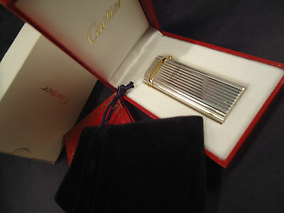 Cartier 'Sapphire' Lighter - Silver Plated - Cased - Feuerzeug - Briquet
