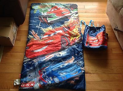 Disney Pixar Cars Sleeping Bag Nap Blanket Toddler Kids Children With Sack