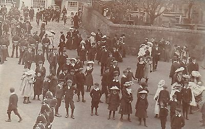 RP Postcard. Coming out of Church. CHISWICK. Posted 1904.