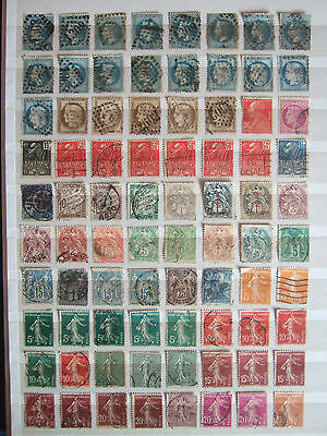 FRANCE 120 x VERY OLD USED STAMPS - UNCHECKED WITH DUPLICATION