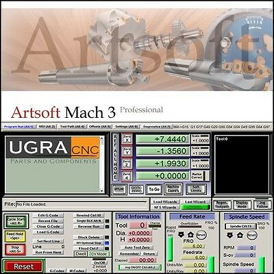 Mach3 CNC Software for CNC Router, Mill, Lathe - Personalized License