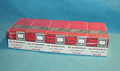 5 Boxes - 100 mounts - Gepe 24X36 #2001 Slide Mounts with Glasses New / Sealed