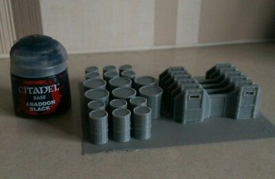 *SCENERY* 15mm scale barricades & barrels - Bolt Action etc.
