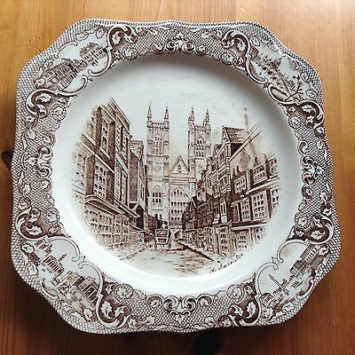Vintage Johnson Brothers Old London Sq Sandwich Plates Westminster 24cm in GC