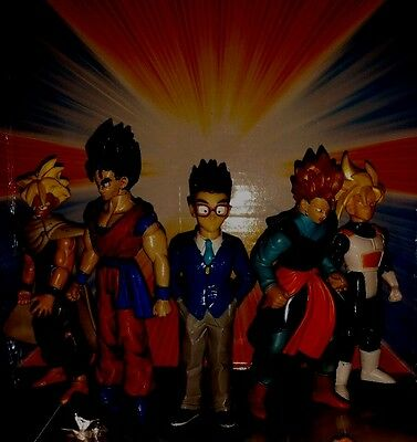 Dragon Ball Z GT Super Gohan Action Figure Lot trunks and Captain Ginyu
