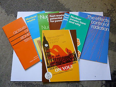 9 pamphlets on nuclear power 1980s