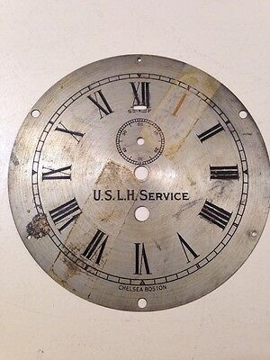 Vintage Chelsea USLH Lighthouse Service Clock Dial New Orleans Loomis Identified