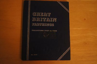 Rare Vintage Empty GB WHITMAN Coin Collection Folder FARTHINGS 1937 To 1956