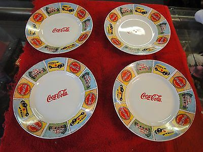 4 lot Coca-Cola Gibson Good ole Old Days salad plates 9""