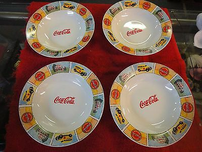 4 lot Coca-Cola Gibson Good ole Old Days bowls 9""