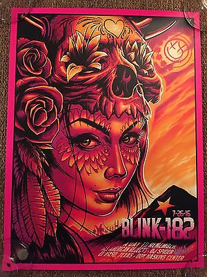 Blink 182 Poster Limited Edition Signed And Numbered