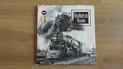 "BURLINGTON ROUTE by Ralbar Productions 7"" Record @33 rpm w/Pic Sleeve"