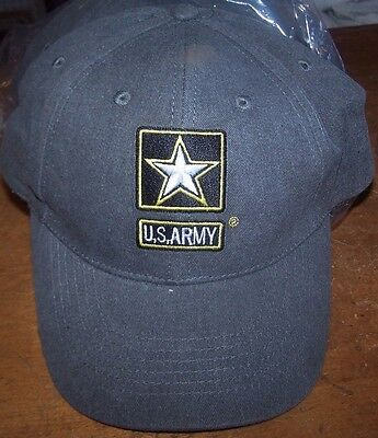 Lot of 2 US Army Logo Baseball Cap Hat Adjustable Gray NEW Embroidered