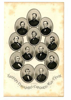 EMINENT UPHOLDERS IN CONGRESS OF THE WAR FOR THE UNION, Civil War Engraving