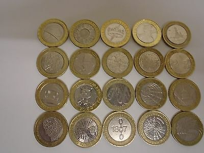 Rare £2 Two Pound Coins X 20 Various Designs And Dates / Coin Hunt