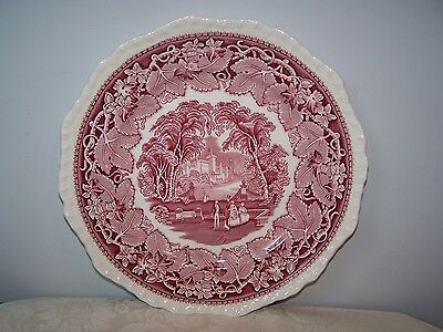 Beautiful Masons / Mason's Pink / Red Vista 10 1/4'' Dinner Plate
