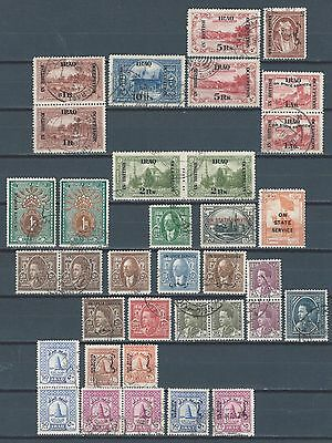 MIDDLE EAST Iraq Mesopotamia British Occ hi value stamps vf used (A)