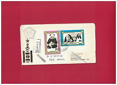 Mongolia - Panda Forwarded stamp - Cover