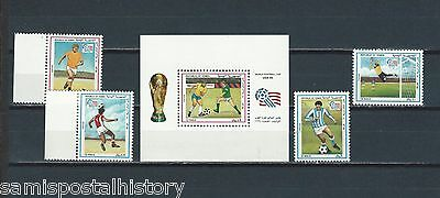 Middle East Yemen mnh stamp set and sheet - soccer
