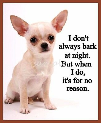 Funny CHIHUAHUA I Don't Always Bark Refrigerator Magnet 3 x 4