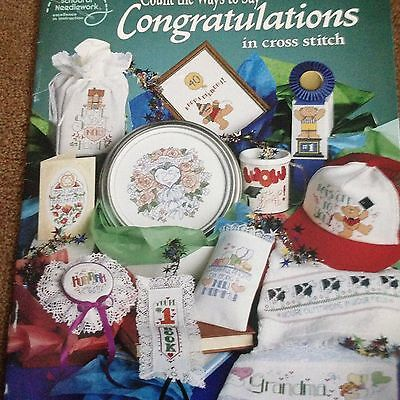 Counted Cross Stitch Charts Booklet - Congratulations